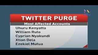 Twitter purge hits Uhuru, Ruto and bloggers Nyakundi, Xtian Dela