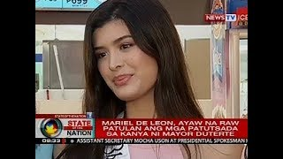 Pagkatalo ni Bb. Pilipinas-International Mariel de Leon, ikinatuwa raw ni Mayor Sara Duterte