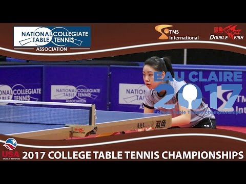 2017 TMS NCTTA - Women's Singles Yue Wu vs. Lily Zhang (Final) Highlights