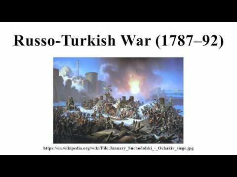 Russo-Turkish War (1787–92)