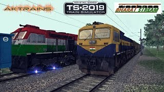 WDG4D RESCUE TRI COLOR WDG4D HAULED FREIGHT TRAIN    TRAIN SIMULATOR 2019    Part 2