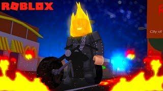MOTOQUEIRO FANTASMA POR UM DIA no ROBLOX (Ghost Rider in Roblox)