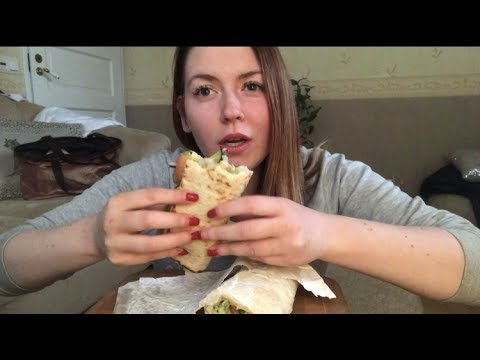 Subway (soft-talking) & feelings about going to the USA ~ ASMR/Mukbang Relaxing Eating Sounds 먹방