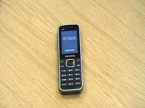 Samsung E3210  取扱い方法―電源の入れ方
