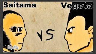 SAITAMA vs VEGETA | Fan ANIMATION Dragon ball super VS One punch man | Flipaclip