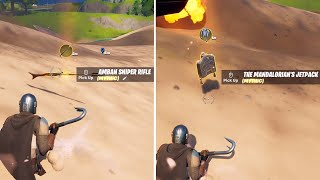 How and Where to find Mandalorian's Mythic Sniper Rifle and Mythic jetpack in Fortnite Season 5