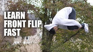 Learn Front Flip oฑ Ground But First On The Trampoline