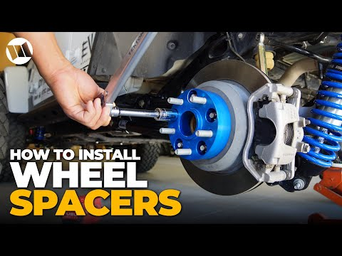 Jeep Wrangler Wheel Spacer INSTALL – How to Run Big Tires on Factory Wheels with No Rub SPIDERTRAX