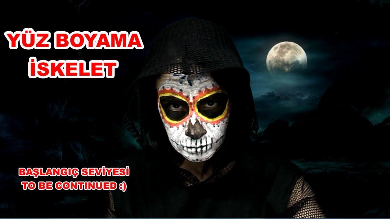 Yuz Boyama Sanati Iskelet Yuz Boyama Youtube