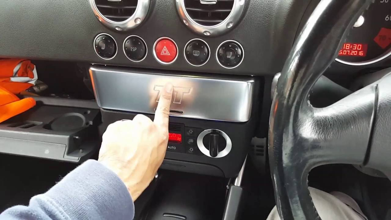 Mk1 Audi Tt Aftermarket Stereo Installation Youtube