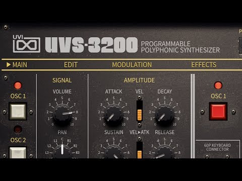 UVI UVS-3200 VST Synth Presets Testfire! - Musicman2047