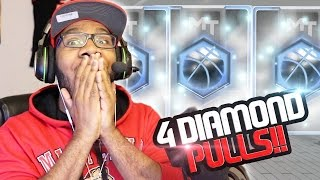 NBA 2k17 MyTeam GREATEST Pack Opening Ever! 4 Diamond Pulls Back to Back!! New Lockdown Boxes!