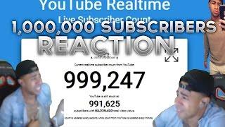 PRETTYBOYFREDO 1,000,000 SUBSCRIBER REACTION ! CRYING ! GOALS FOR NBA 2K17