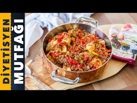 Cauliflower with minced meat   Mom's Recipes   Turkish Food - Andaç Yeşilyurt