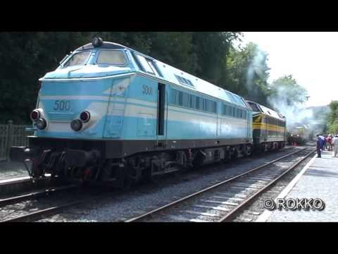 Gala van Cockerill-diesels op de Bocq-lijn