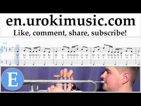 Trumpet lessons Axel F - Crazy Frog Sheet Music Tutorial um-i352