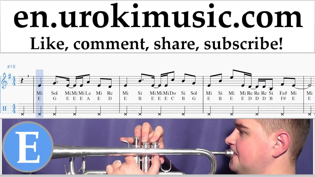 Trumpet Lessons Axel F Crazy Frog Sheet Music Tutorial Um I352