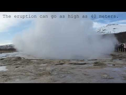 Strokkur Geyser Eruption at Geysir in Iceland