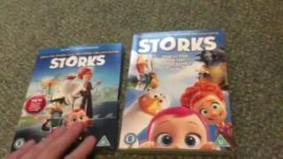 Trolls and Storks Blu Ray and DVD Unboxing