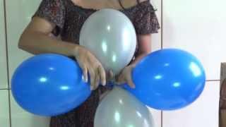 Repeat youtube video Dica para as mamães que querem fazer a festa do seu filho - Como fazer arco de balões
