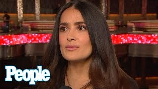 Salma Hayek On Trump's Wall: I'd Like To See His Face When He Gets The Budget | People NOW | People