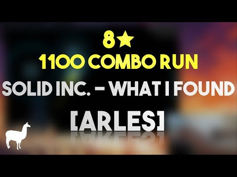 8★ 1100 COMBO RUN - solid inc. - What I Found (State Function Remix) [Arles] (filsdelama)