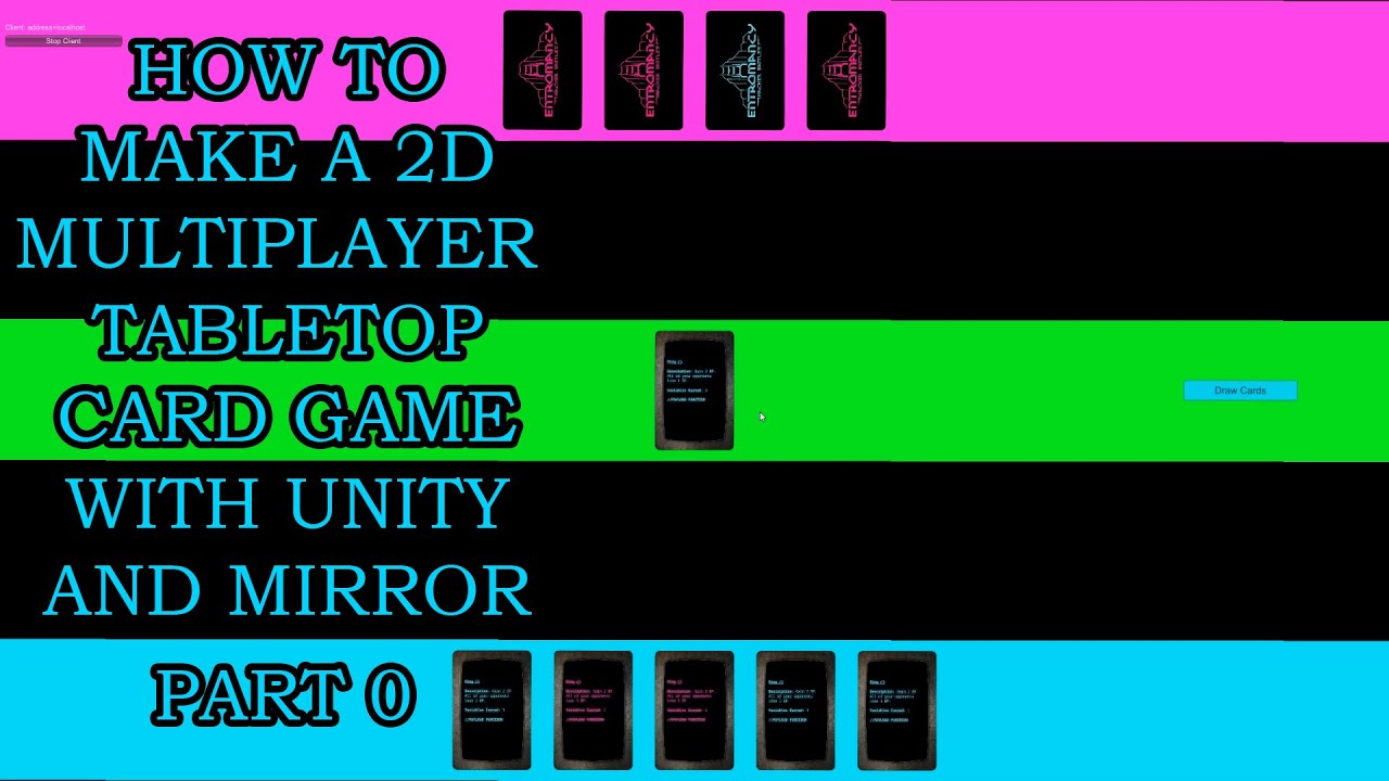 Learn C# and Unity Networking by Building a 2D Multiplayer Tabletop Card Game (2021 Update)