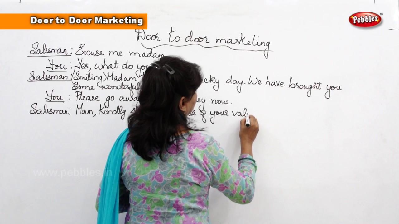 Spoken English Basic for Beginners || Door to Door Marketing - YouTube