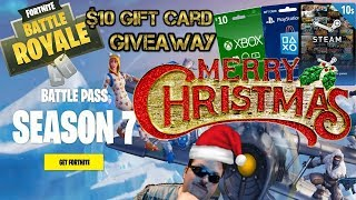 Fortnite / $10 Gift Card Giveaway / Merry Christmas! Let's Get 3,000 Subscribers!