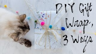 DIY Printable Gift Wrap, 3 Ways