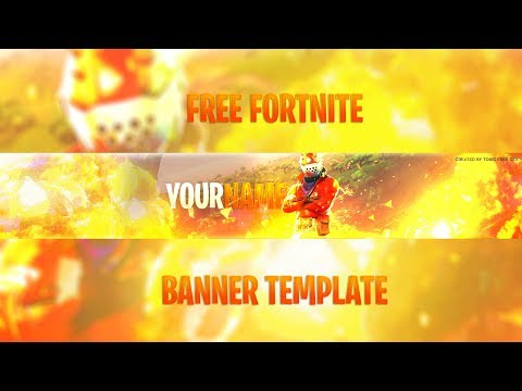 Free Gfx Fortnite Youtube Banner Template Download How To