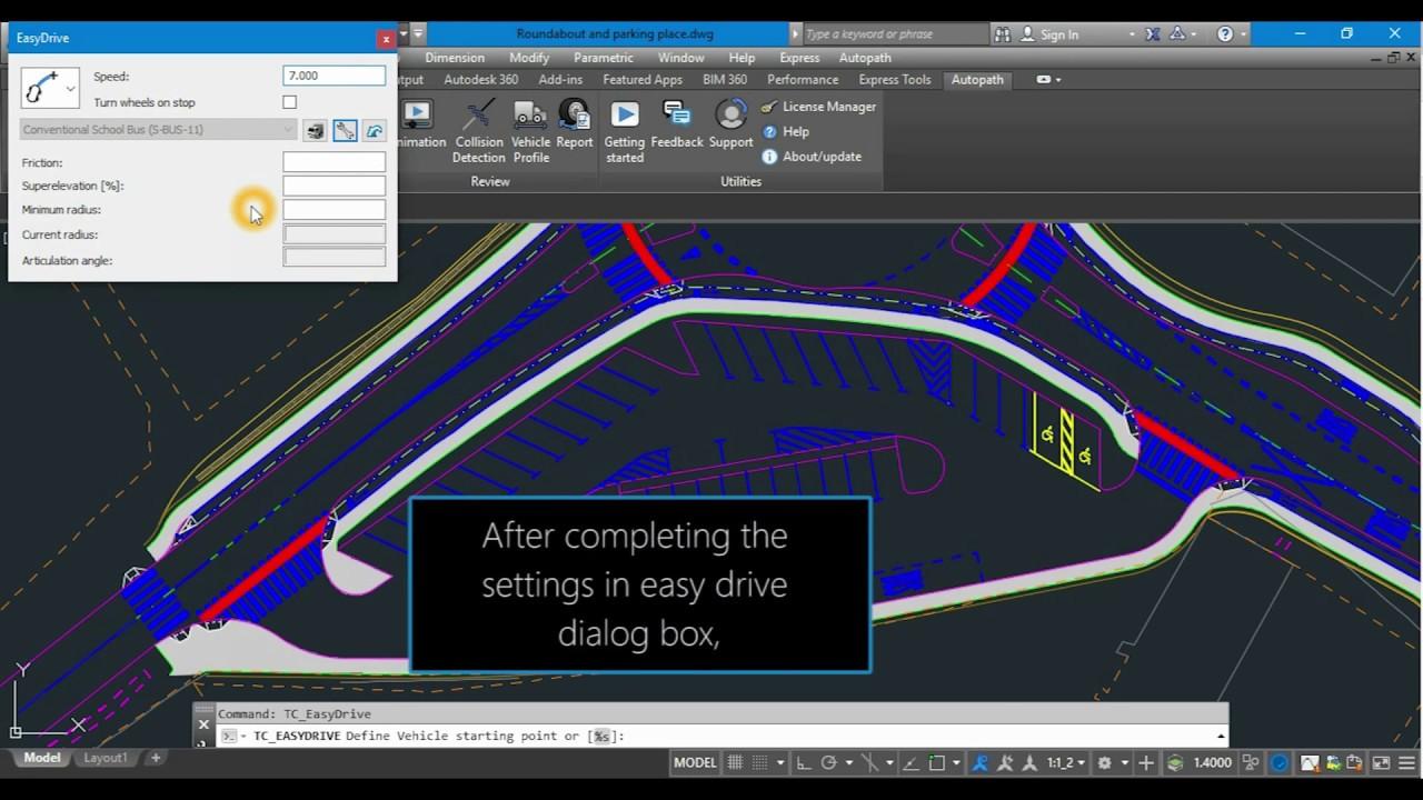 Autopath PRO and LT - Vehicle swept path analysis software