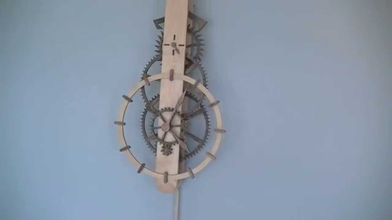 Ascent Wooden Gear Clock