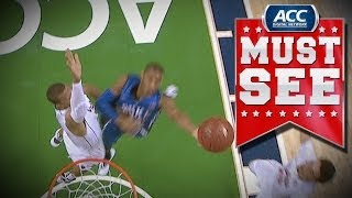 Virginia's Akil Mitchell Skies for Huge Block on Rasheed Sulaimon | ACC Must See Moment