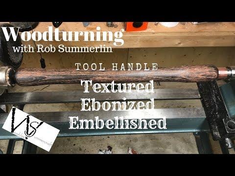 woodturning # 118 textured, ebonized, embellished