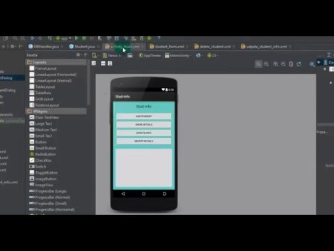Studio 06 android studio - 06 - creating sqlite database for your android