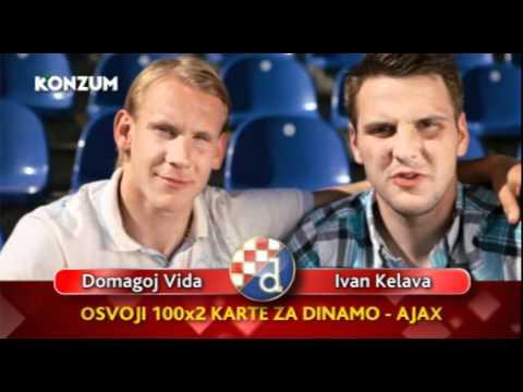 Ivan Kelava i Domagoj Vida u spotu za Konzum