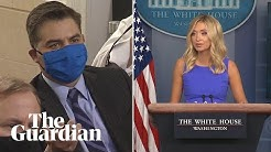 'Are you saying Trump never lies?': reporters quiz McEnany over White House Twitter feud