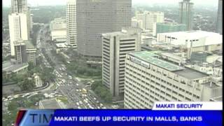 Makati beefs up security in malls, banks