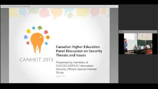 Canadian Higher Education Panel Discussion on Security Threats and Issues