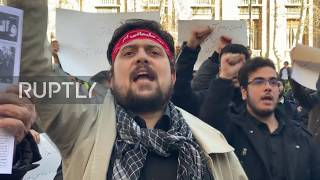 Iran: March called after Zarif offers to negotiate with US