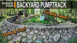 FINALLY riding my Backyard PUMPTRACK, and a weird building story