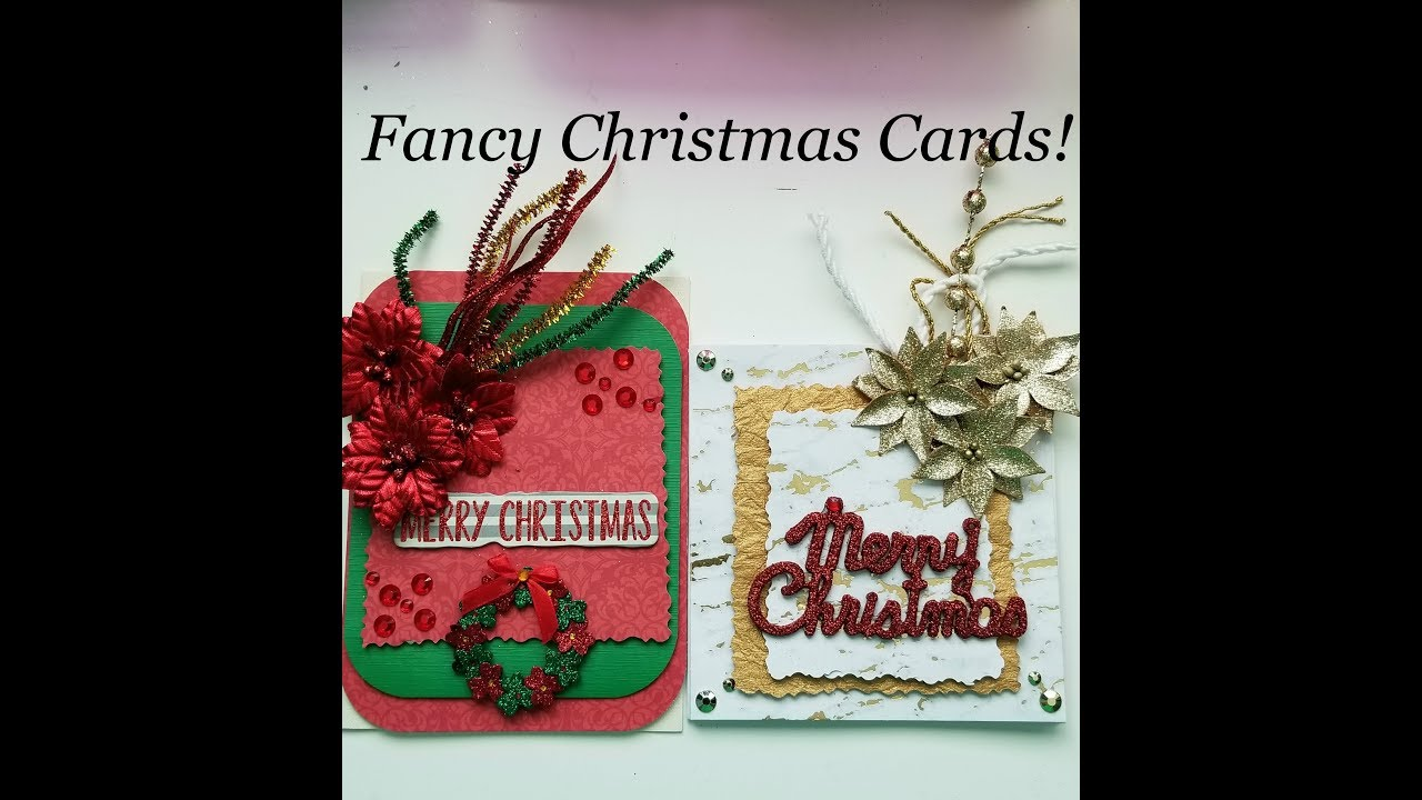 how to make fancy christmas cards diy - Fancy Christmas Cards