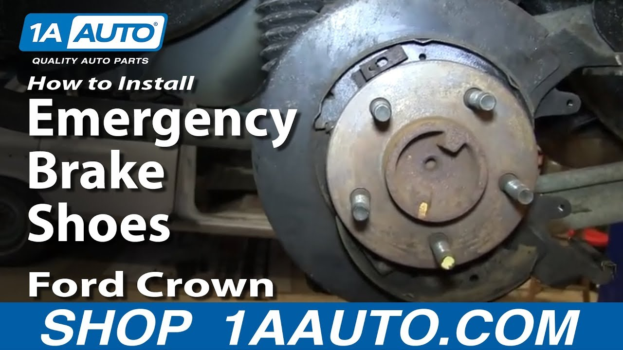 How To Install Replace Emergency Brake Shoes   Ford Crown Rh Youtube Com Chevy Truck Parking Brake Assembly Ford F  Parking Brake Replacement