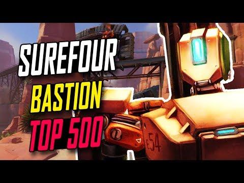 [CLOUD 9] SUREFOUR BEST BASTION 50 KILLS!!! [ OVERWATCH SEASON 5 TOP 500 ]