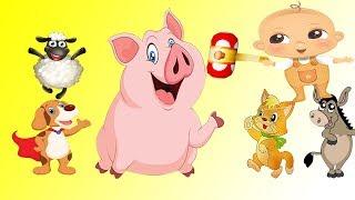 домашние животные для детей умный ребенок | учить животных для детей| развивающие мультики | часть 1