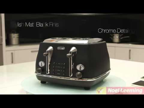 Delonghi Icona Vintage 4 Slice Toaster (black) -- Demonstration