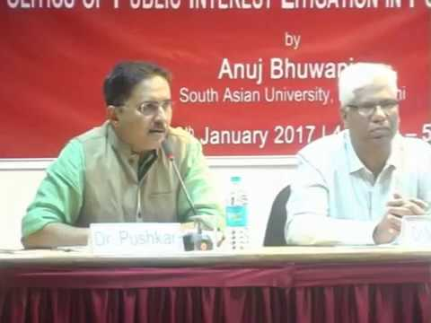 Lecture on The Politics of Public Interest Litigation in Post-Emergency India by Anuj Bhuwania