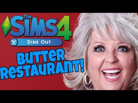 Sims 4 Dine Out - Paula Deen Butter Restaurant! |