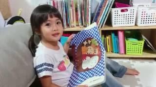 2歳8ヶ月のすみれが絵本を読みます。 実はひらがなはまだ読めていません...
